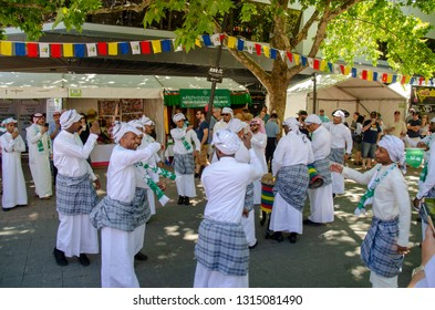 Canberra, Australia - February 16 & 17, 2019: National Multicultural Festival celebrated with showcasing dances, food and human spirit when all cultures and races come together in Australian Capital