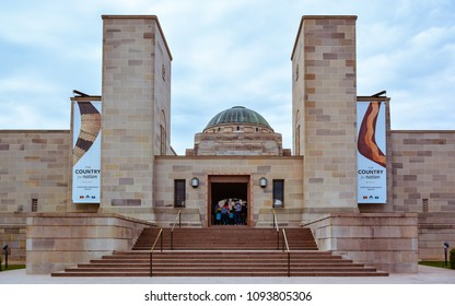 Canberra, Australia - Jan. 25, 2017: Entrance to the Australian War Memorial. The Australian War Memorial commemorates the sacrifice of Australians who have died in war.