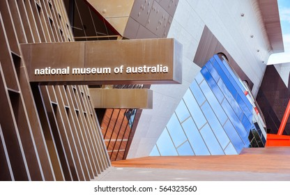 Canberra, Australia - Jan. 25, 2017: National Museum of Australia - Explores the land, nation and people of Australia,  focusing on Indigenous histories and cultures, and European settlement.