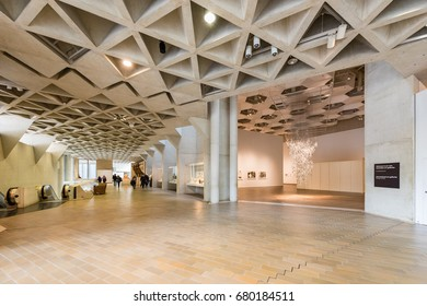 Canberra, Australia - June 11, 2017: National Gallery of Australia is the national art museum of Australia and one of the largest art museums in Australia, one of the most attraction for tourists.