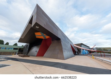 Canberra, Australia - June 15, 2017: National Museum of Australia, Canberra, Australia, one of the most attraction for visitors and tourists over the world.