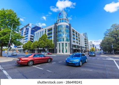 CANBERRA, AUSTRALIA - MAR 22: Cityscape of Canberra on Mar 22, 2015 in Canberra. It's the capital city of Australia which is largest inland city in Australia.