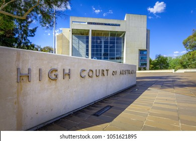 Canberra, Australia - March 12, 2018:  High Court of Australia