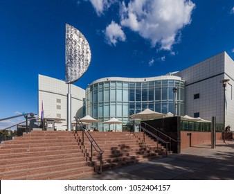 Canberra, Australia - March 12, 2018:  Entrance to the Questacon in Canberra - Children's museum of science and technology