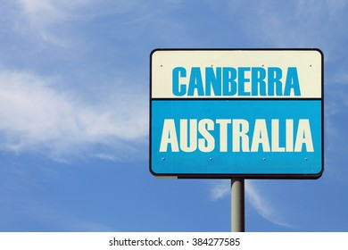 Canberra Australia Sign