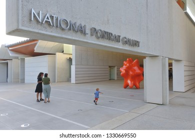 CANBERRA - FEB 22 2019: The National Portrait Gallery in Canberra Australia Capital Territory.The National Portrait Gallery in Australia is a collection of portraits of prominent Australians.