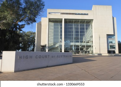 CANBERRA - FEB 22 2019:High Court of Australia in Canberra Australia Capital Territory.It is the supreme court in the Australian court hierarchy and the final court of appeal in Australia