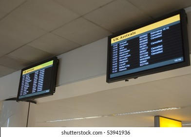 Cancelled flight in Great Britain