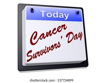 Cancer Survivor's Day on a sign.