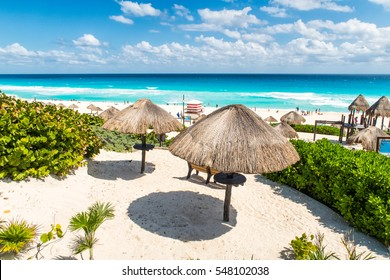 Cancun beach on a sunny day