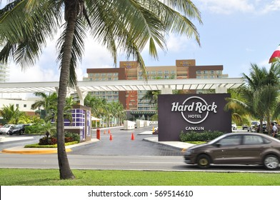 Cancun, Mexico - 4 January 2017: Hard Rock Hotel - luxury resort on Mayan Riviera, Yucatan Peninsula