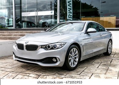 CANCUN, MEXICO - JUNE 4, 2017: Motor car BMW 4-series (F32) in the city street.