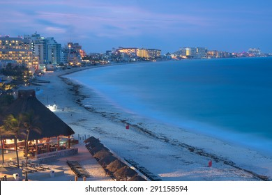 Cancun at night, Mexico