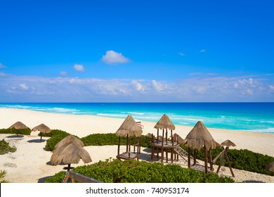 Cancun Playa Delfines beach in Riviera Maya of Mexico