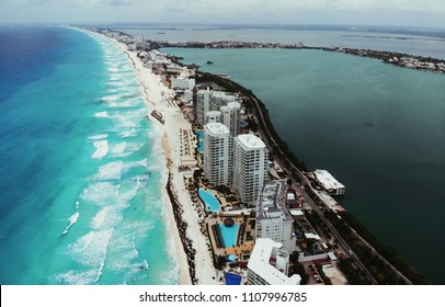 Cancun Quintana Roo from the air