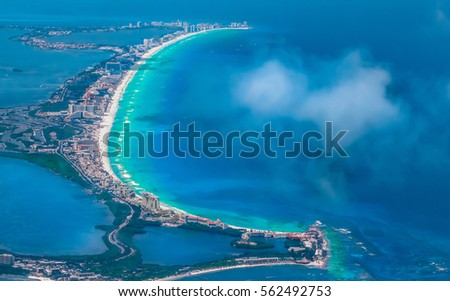 Cancun from the sky