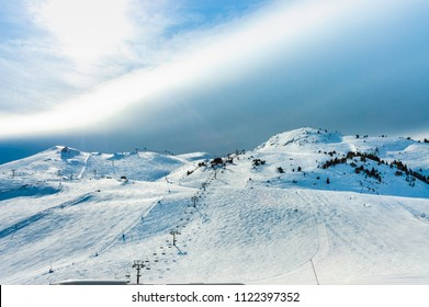Candanchu ski resort. In the Pyrenees of Huesca, Spain