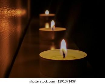 Candel light and candels