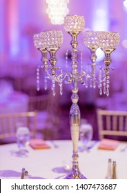 Candelabra centerpieces for Indian Pakistani weddings.