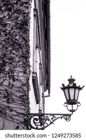 Candelabrum on the old house