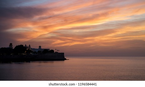 Candelaria Bulwark at Dusk Cadiz Spain