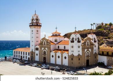 Candelaria Church, Candelaria, Santa Cruz de Tenerife, Tenerife, Canary Islands, Spain.