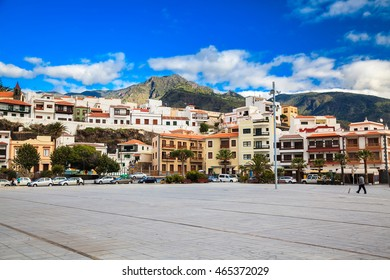 Candelaria major square, a famous touristic town in Tenerife, Canary islands, Spain
