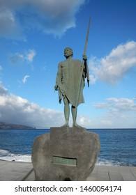Candelaria, Santa Cruz de Tenerife / Spain -11 17 2012: The Guanches were the aboriginal inhabitants of the Canary Islands.