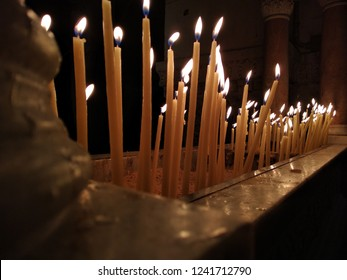candeles in The Holy Sepulchre Church
