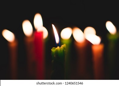 A candels with background