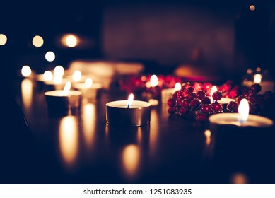 candels in spa room
