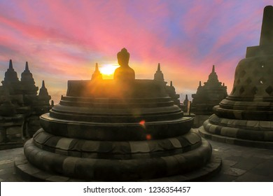 Candi Borobudur or Borobudur Temple Compounds. This famous Buddhist temple, dating from the 8th and 9th centuries, is located in central Java.