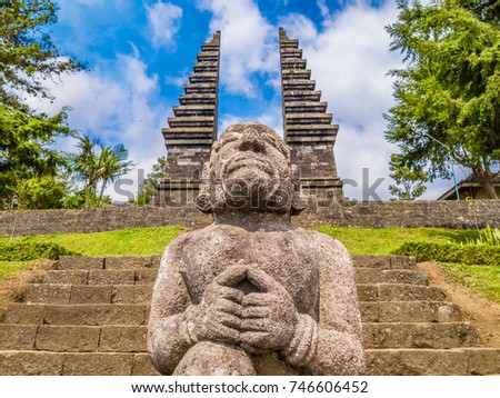 Candi Cetho Hindu Temple Java Indonesia Stock Photo Edit Now