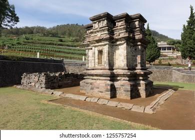 Candi Gatotkaca hindu temple, near Arjuna complex in Dieng Plateau, Central Java, Indonesia.