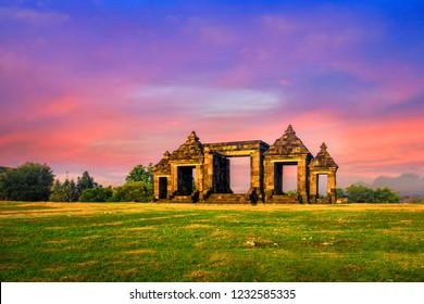 Candi Ratu Boko or Ratu Boko Palace is an archaeological site in Java. Ratu Boko is located on a plateau, about 3 kms south of Lara Jonggrang Prambanan temple complex in Yogyakarta, Indonesia