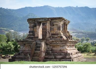Candi Setyaki hindu temple, near Arjuna complex in Dieng Plateau, Central Java, Indonesia.