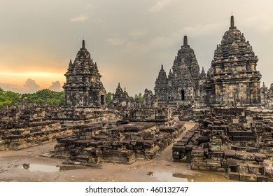 Candi Sewu in Prambanan archaeological park in Central Java, Indonesia.