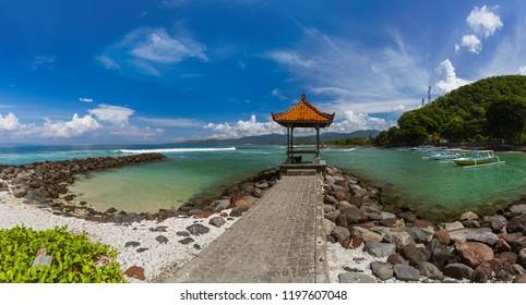 Candidasa Beach  Bali Island Indonesia  nature travel background