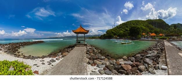 Candidasa Beach - Bali Island Indonesia - nature travel background