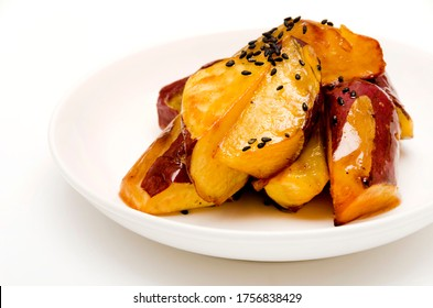 Candied Sweet Potato on a plate