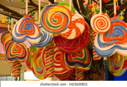 Candies in Dubai shop, UAE. Multicolor sweets. Candylicious - Candy Store at The Dubai Mall
