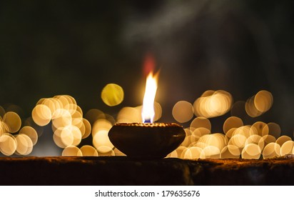 Candle at Asian temple