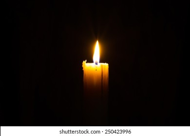 Candle in the dark with copyspce