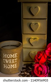 candle drawers roses