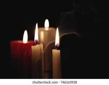 candle flame in the dark