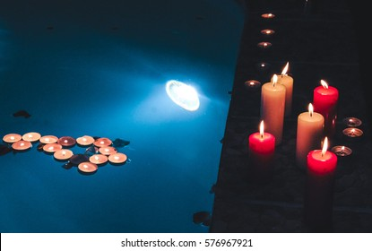 Pool Candles Hd Stock Images Shutterstock
