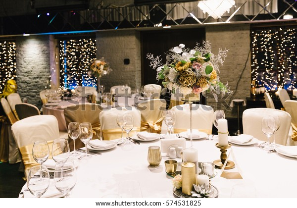 Candle Flower Decoration Event Party Wedding Stock Photo (Edit Now ...