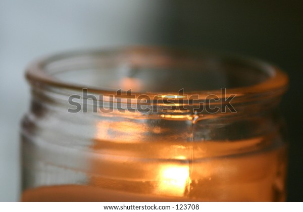 Candle in glass.