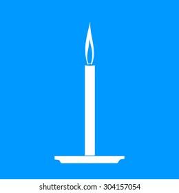 Candle icon. Flat design style modern illustration.
