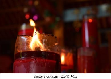 A Candle for Kong Hu Cu Prayer